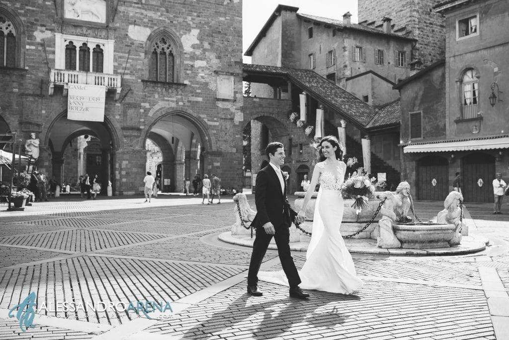 Sposi in Piazza Vecchia Bergamo Alta