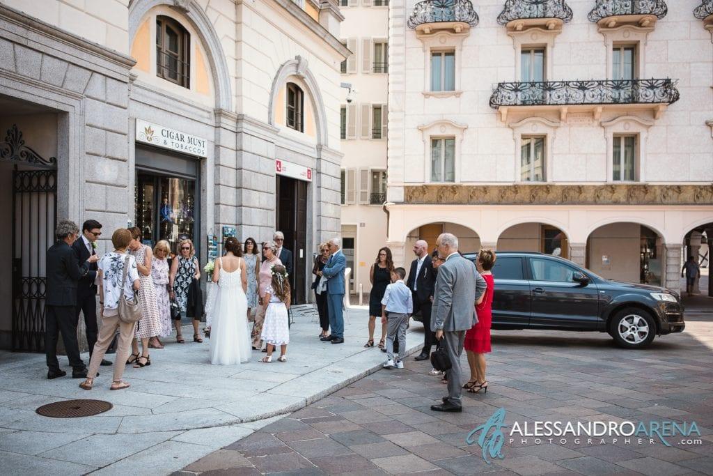Pochi intimi per il Matrimonio civile municipio di Lugano - Ticino