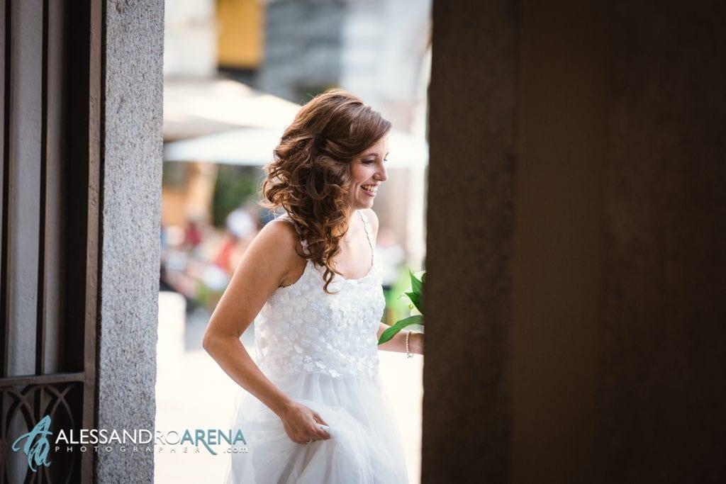 La sposa - Matrimonio civile municipio di Lugano - Ticino