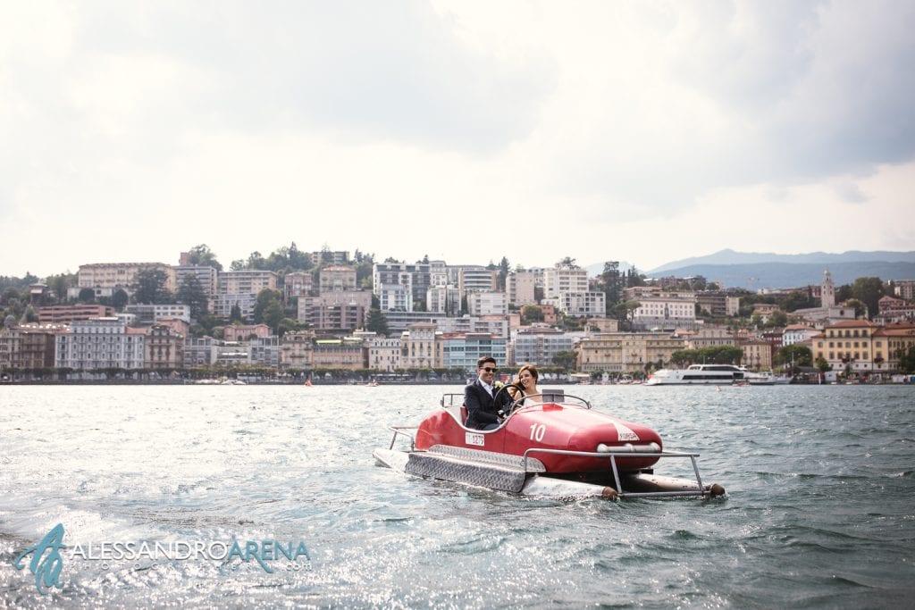 Foto sposi sul Lago di Lugano