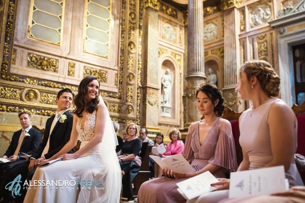 Sposi all'altare - Matrimonio Cattedrale di Bergamo Città Alta