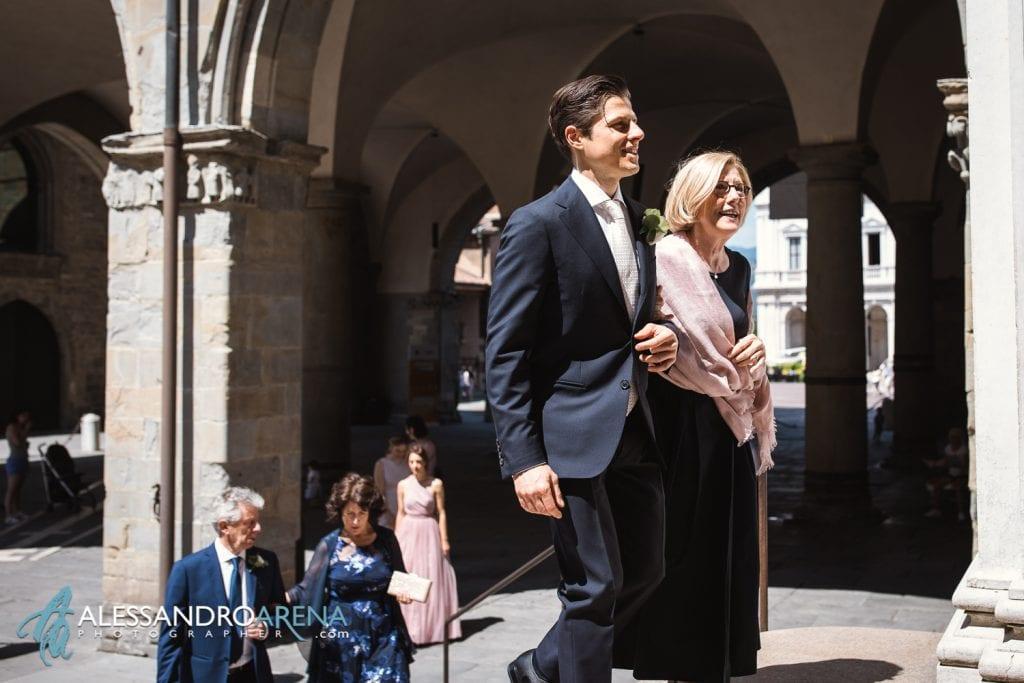 Matrimonio Città Alta Bergamo - Ingresso dello sposo