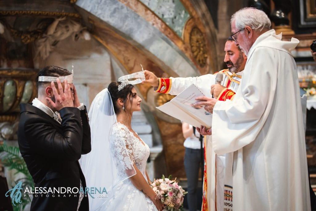 Matrimonio Rito Cristiano Siriaco - Corona per la sposa - Chiesa Collegiata Bellinzona