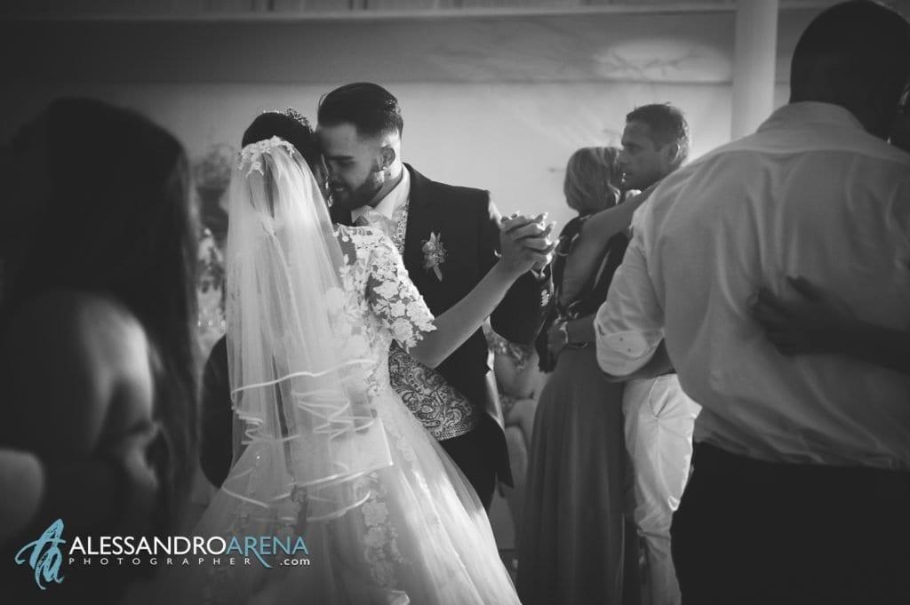 Primo ballo tra gli sposi - location la madonnina Cantello