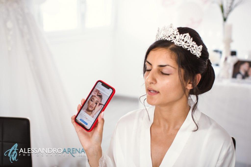 Preparativi sposa make up