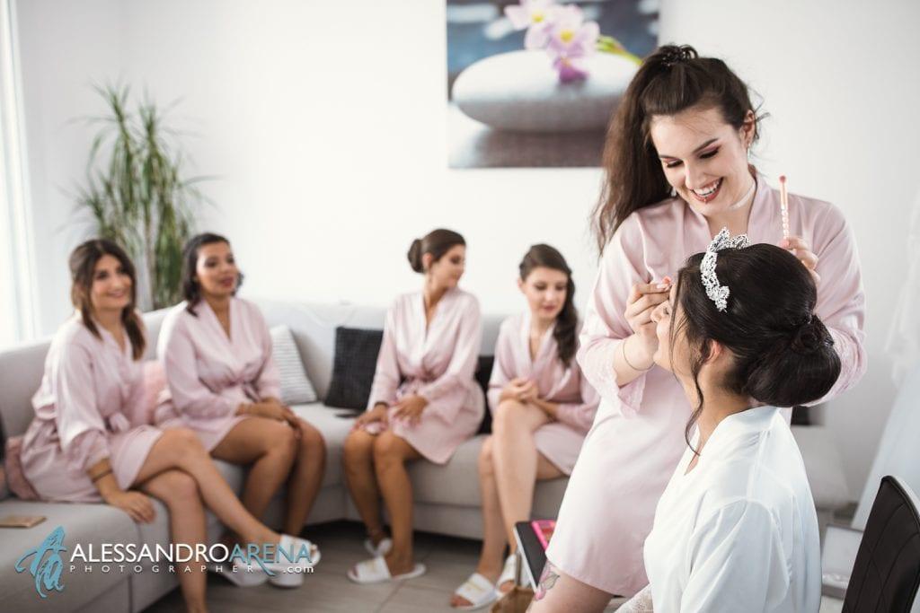 Preparativi sposa make up con le amiche