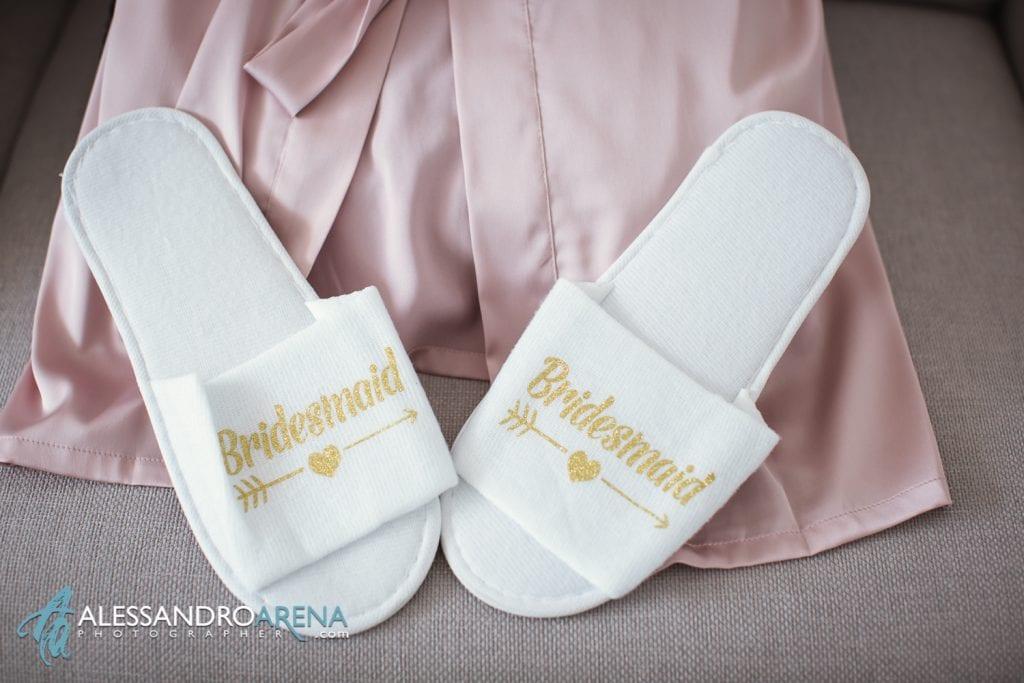 Preparativi sposa - Dettagli ciabattine bridesmaid