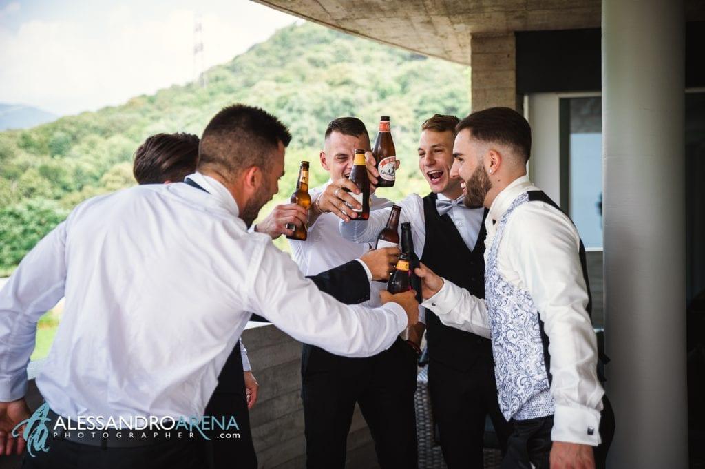 Preparativi sposo - Un brindisi allo sposo
