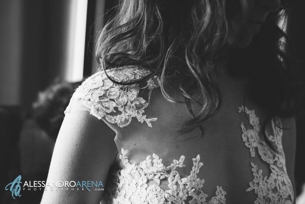 Relais San Lorenzo - Dettaglio abito sposa