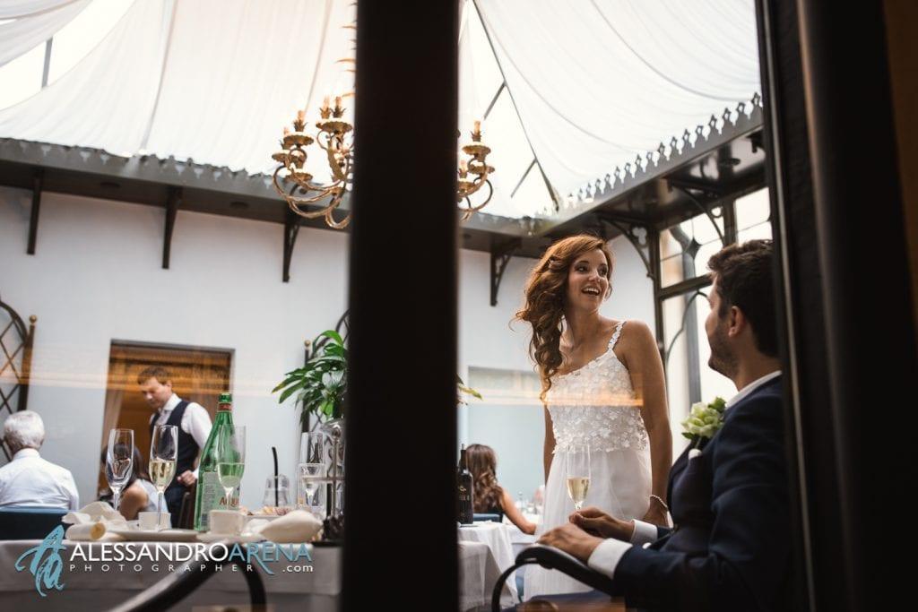 La sposa con gli invitati