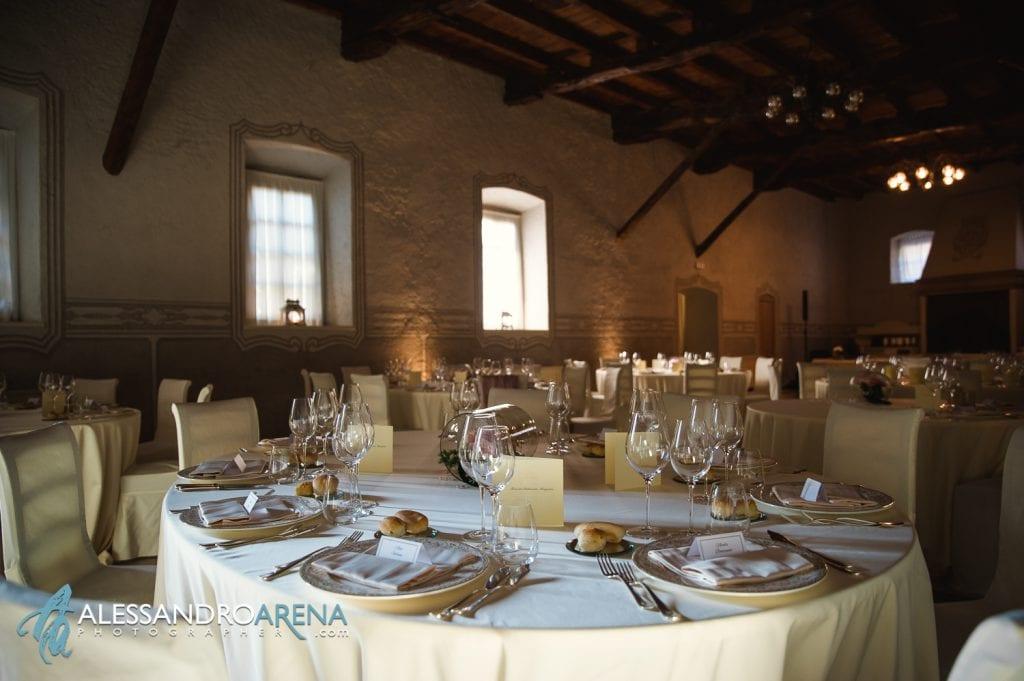 Dettagli allestimenti Sala - Villa Canton Trescore-  Location Matrimonio Bergamo