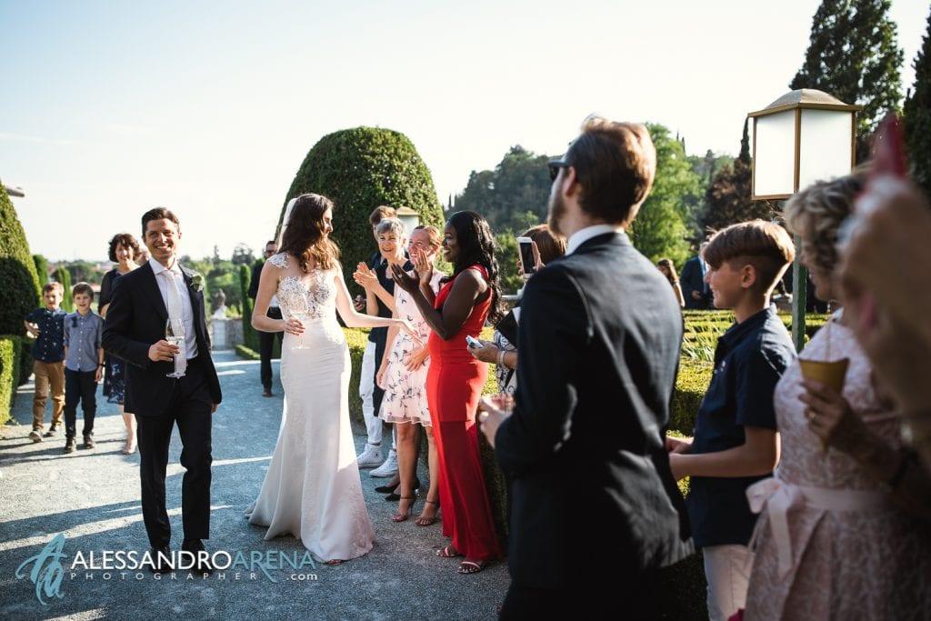 Aperitivo a Villa Canton Trescore Location Matrimonio Bergamo