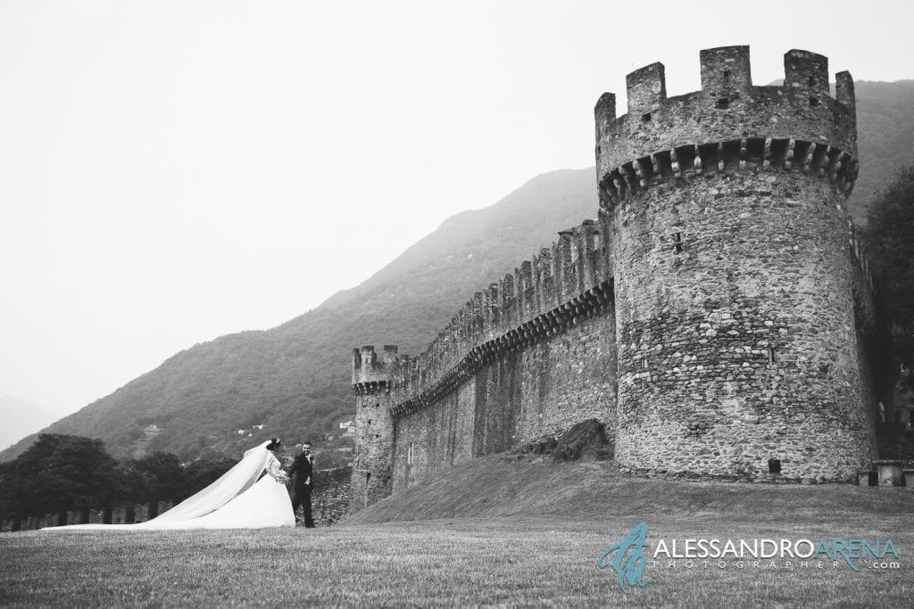 Sposi al Castello di Montebello Bellinzona