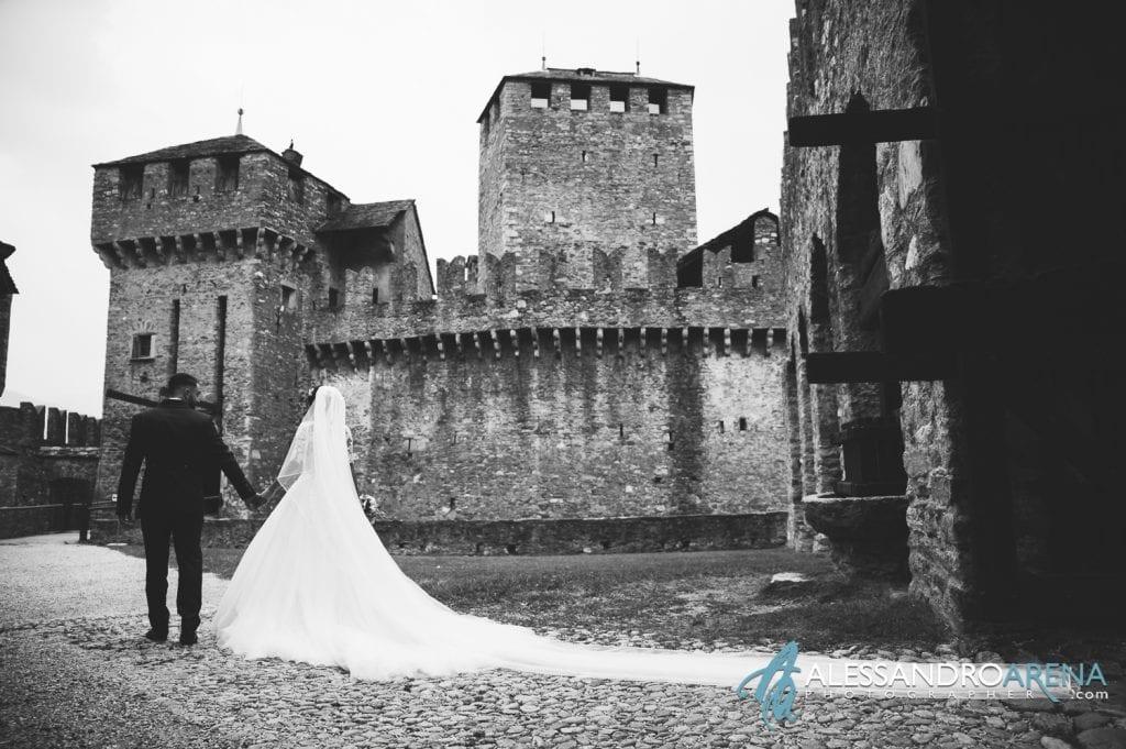 Foto sposi Castello Montebello di Bellinzona