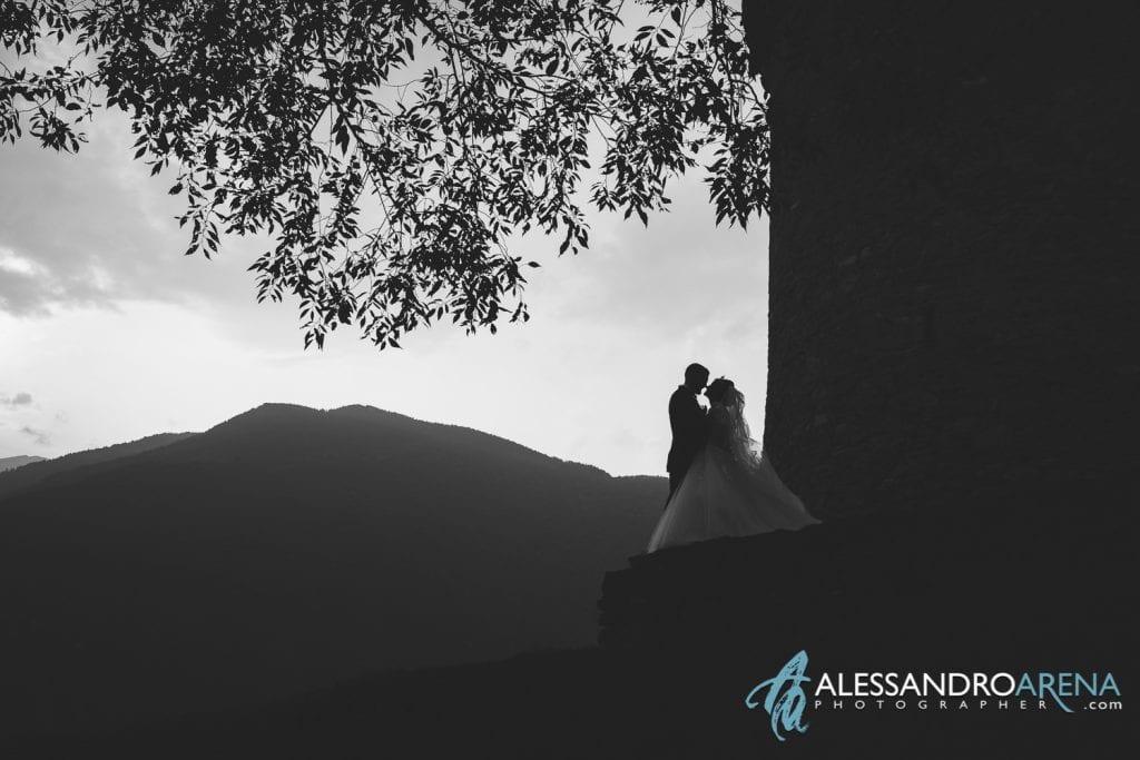 Controluce degli sposi al castello di Montebello Bellinzona