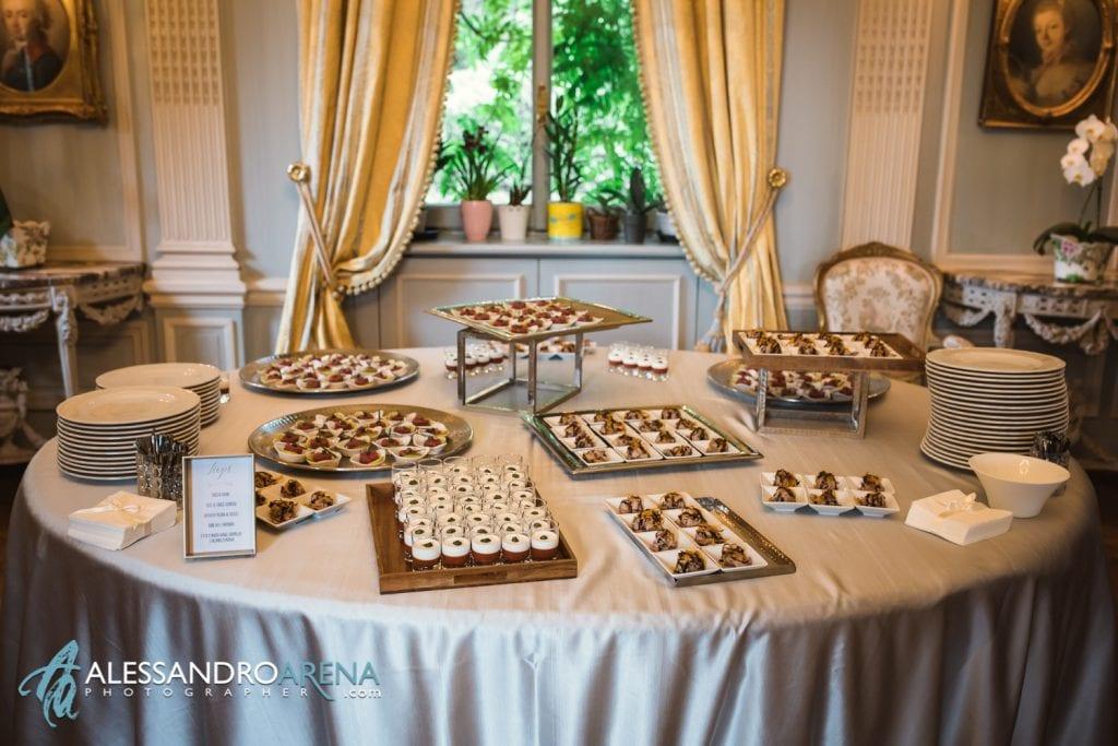 Allestimento aperitivo - Lanzarotti Catering Matrimonio a Villa Paradeisos Varese