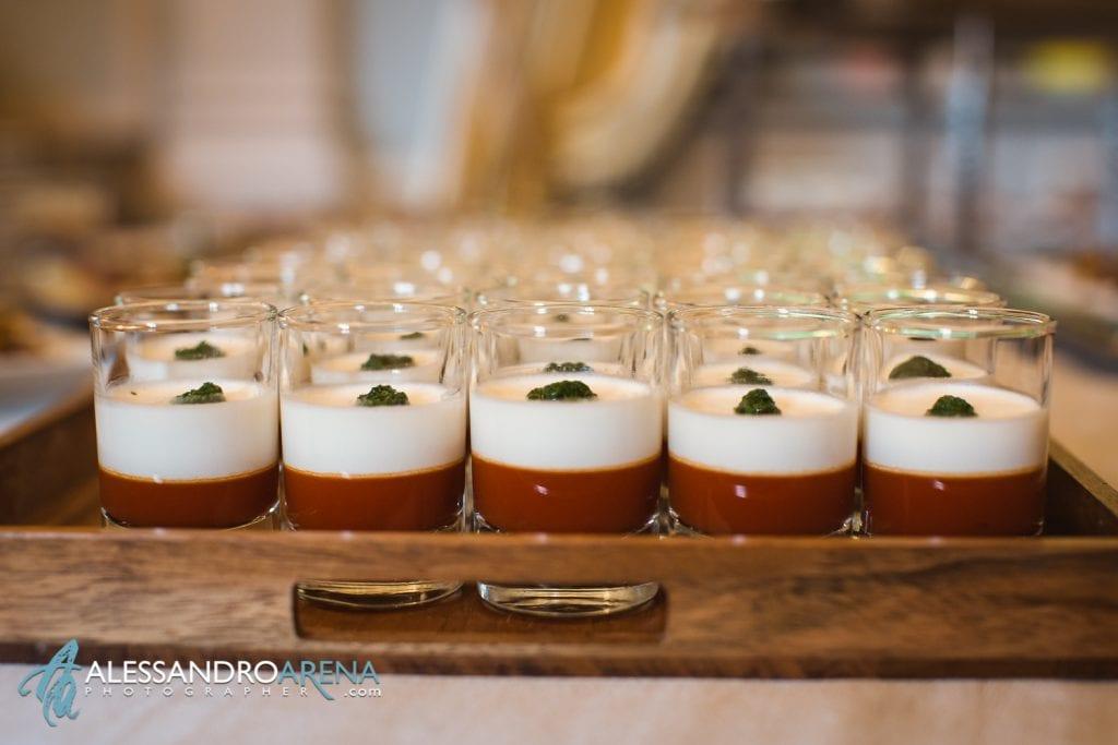 Dettaglio allestimento aperitivo -Lanzarotti Catering Matrimonio a Villa Paradeisos Varese