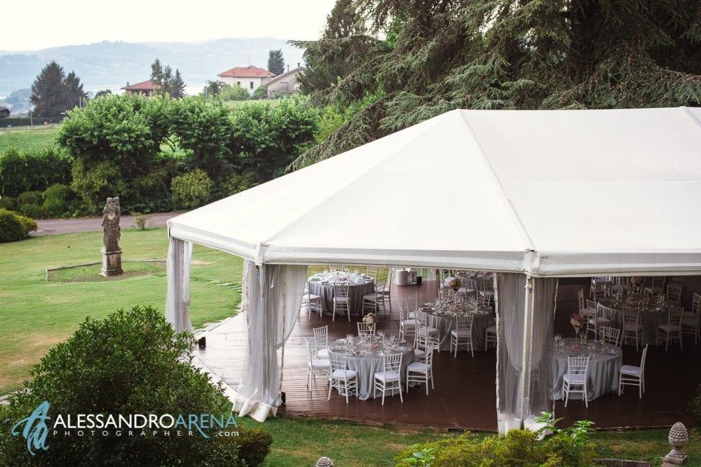 Tensostruttura - Matrimonio a Villa Paradeisos Varese