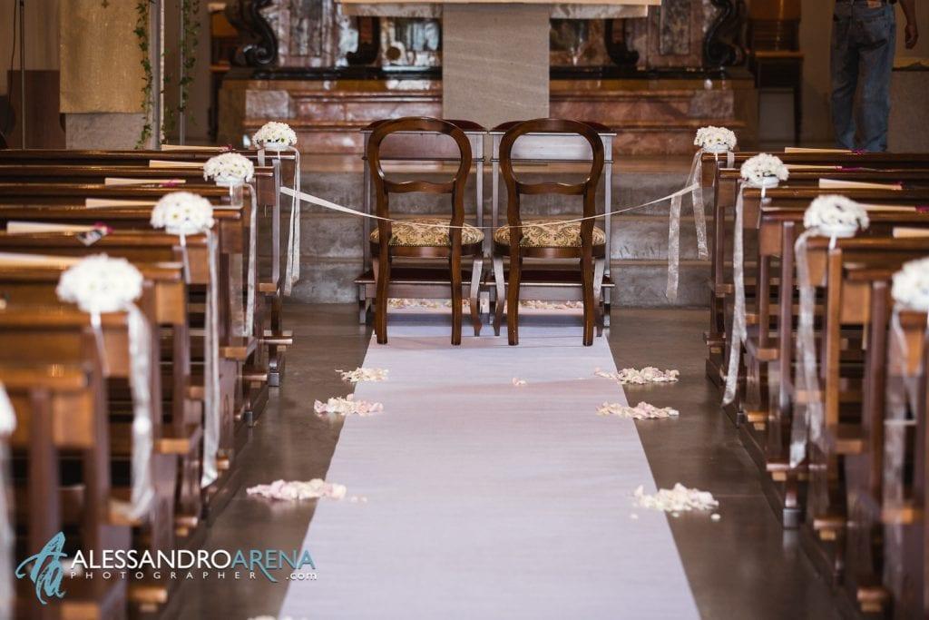 Allestimento Floreale - Matrimonio chiesa di Pazzalino Pregassona Lugano