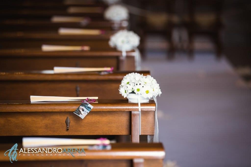 Dettaglio Allestimenti - Matrimonio chiesa di Pazzalino Pregassona Lugano