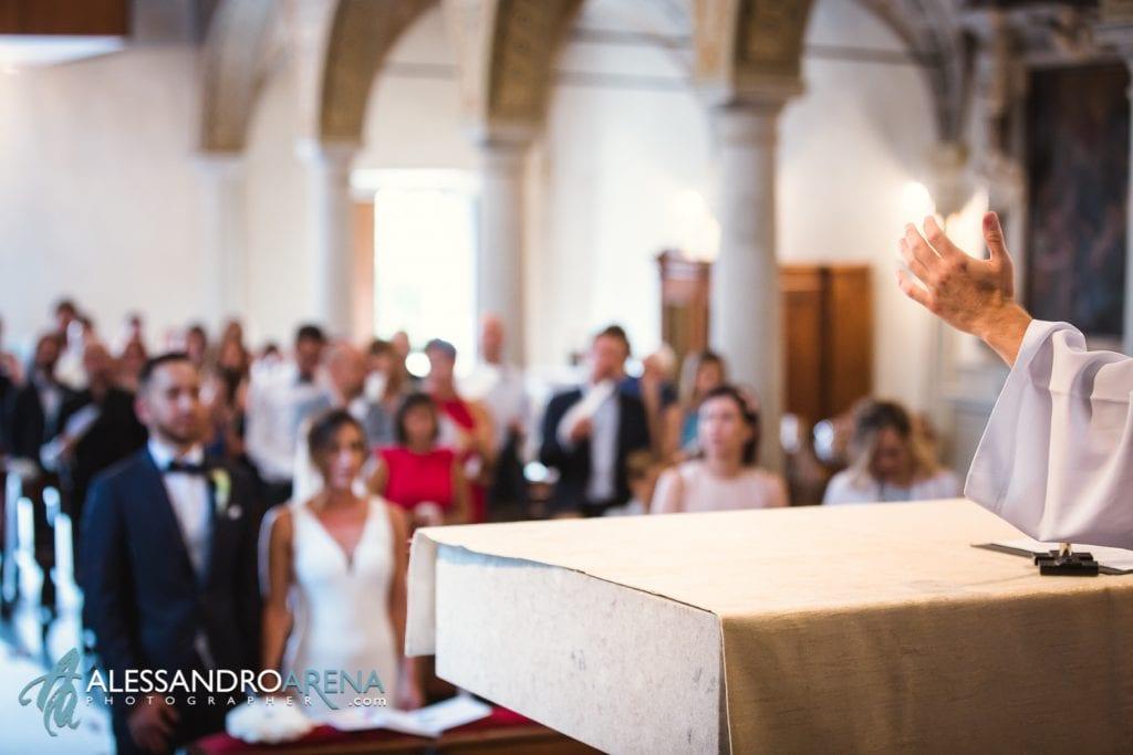 Dettaglio colto durante il matrimonio