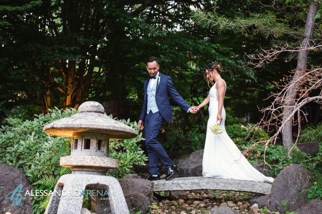 Sposi giardino zen a Villa Paradeisos Varese - Location per Matrimonio - Varese -8