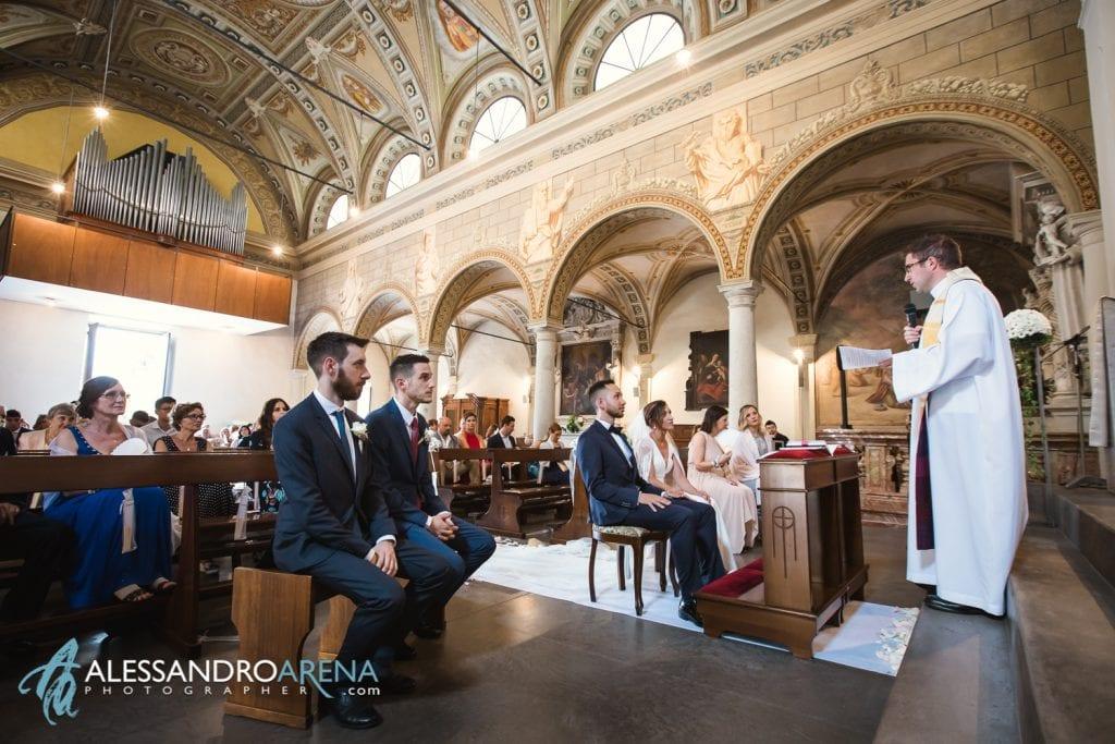Durante la predica - Matrimonio a Lugano Chiesa Pazzalino Pregassona - Canton Ticino