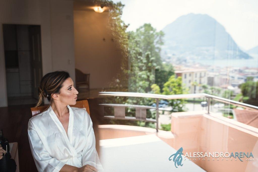 Preparativi sposa a Villa Sassa Lugano