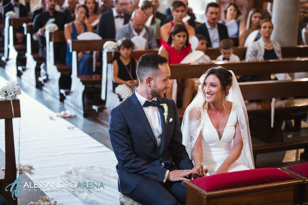 Gli sposi - matrimonio chiesa di pazzalino