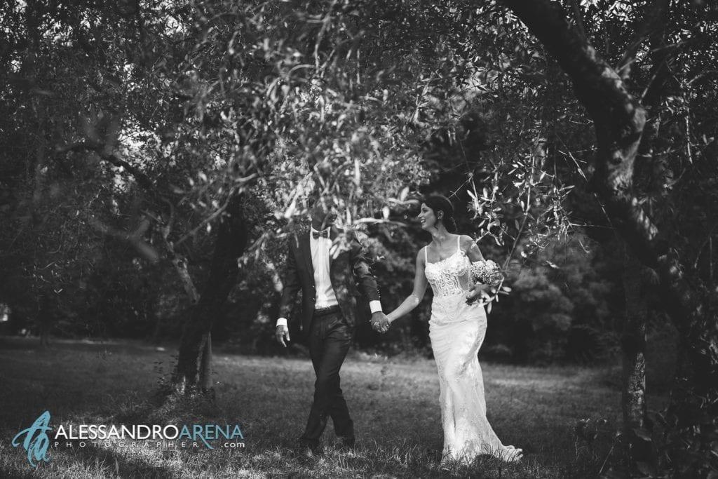Sposi tra gli ulivi - Foto Matrimonio Sposi - Destination Wedding Lago di Garda