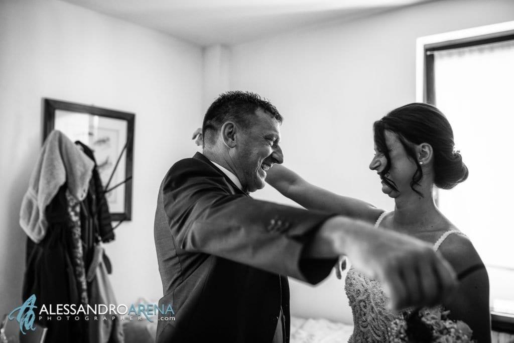La sposa incontra il padre - Lago di Garda - fotografo matrimonio verona
