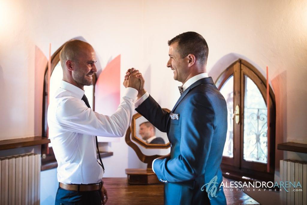 Lo sposo e suo fratello - Lago di Garda - provincia di Verona