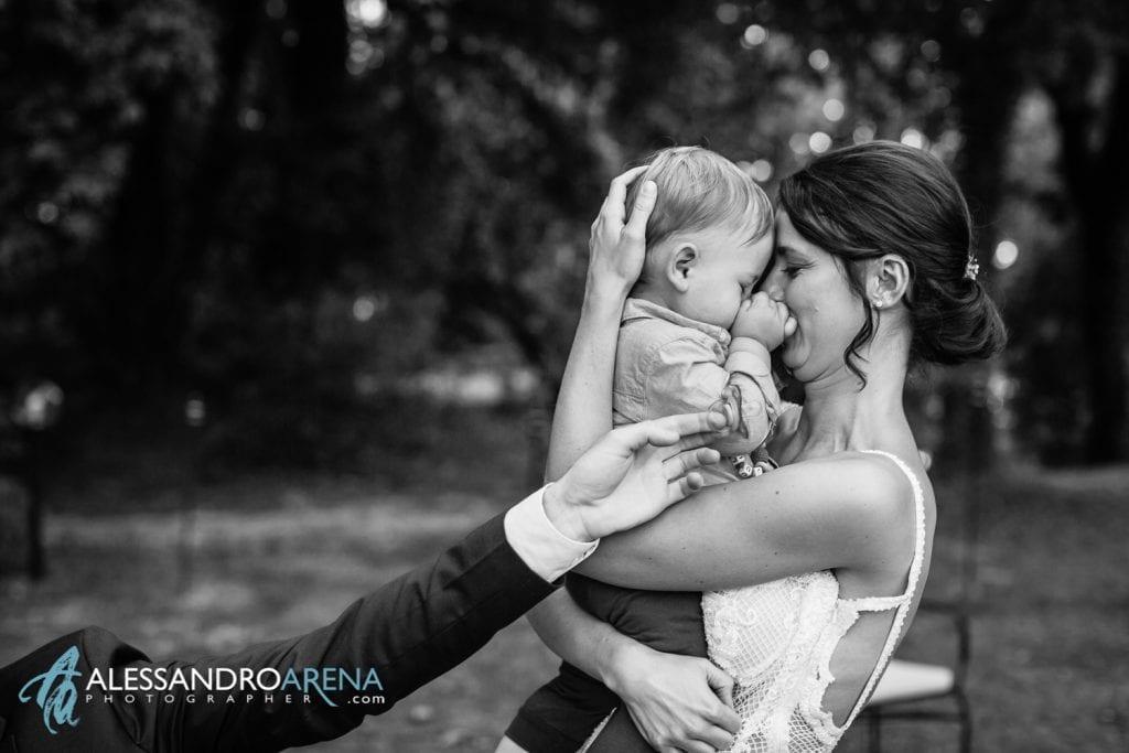 Sposa con il bambino