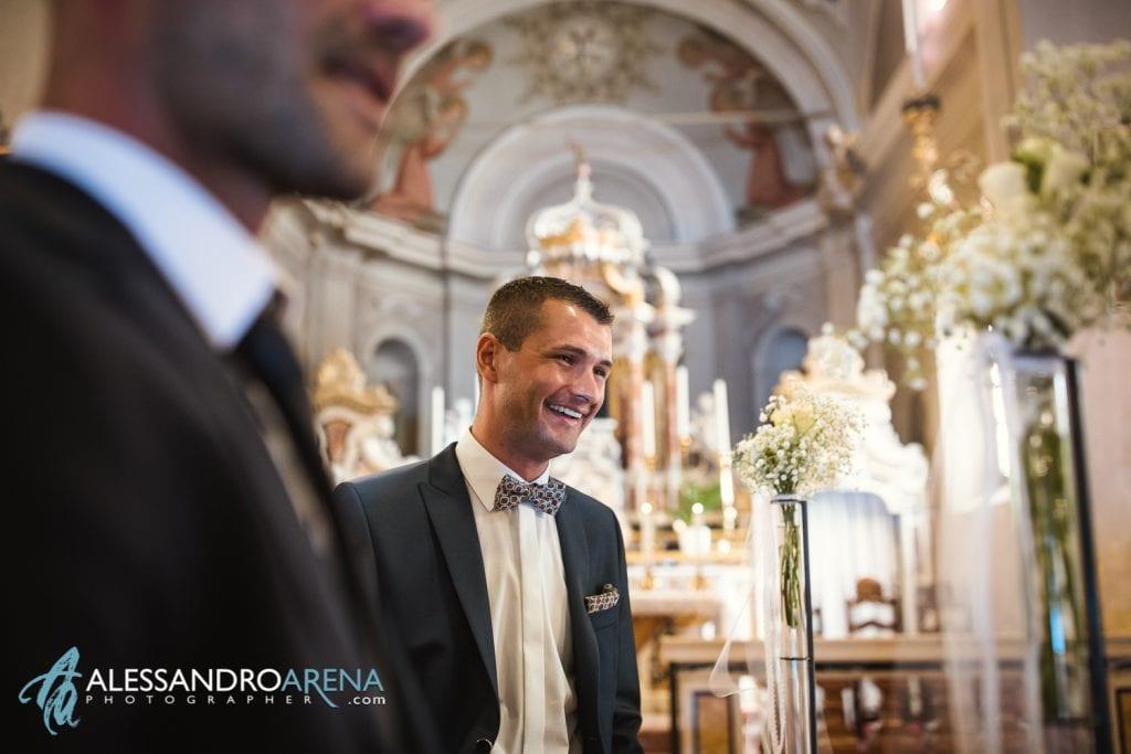 Lo sposo Matrimonio Chiesa San Martino di Albisano - Lago di Garda - fotografo provincia di verona