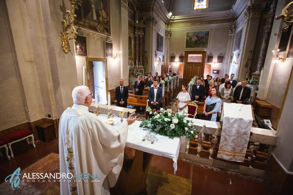 Fine della cerimonia - Matrimonio Chiesa San Martino di Albisano - Lago di Garda - fotografo provincia di verona