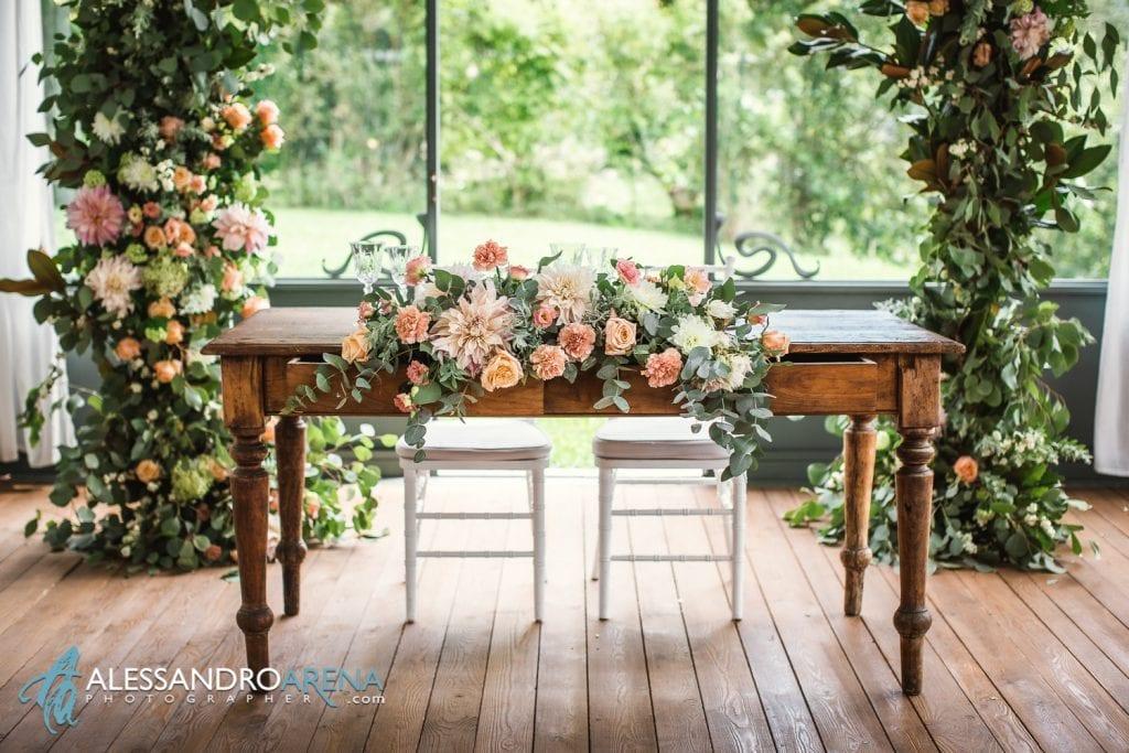 Tavolo sposi by Harmony in flower - Allestimento sala al Mulino dell'olio